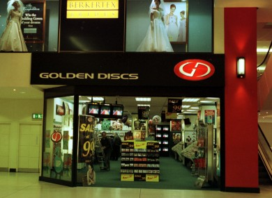 You've come a long way, baby: Golden Discs' shop in the Jervis Centre in 1999