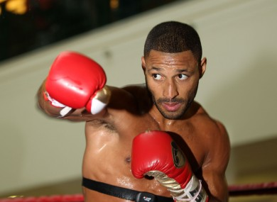 File photo of world boxing champion Kell Brook who is currently in hospital in Tenerife after being stabbed in the leg while on holiday.