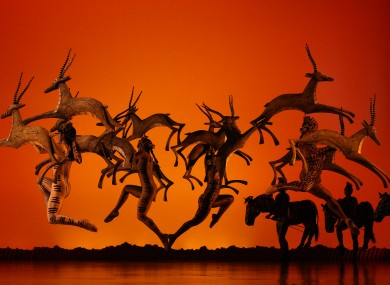 The cast of Disney's The Lion King stage show in Dublin.