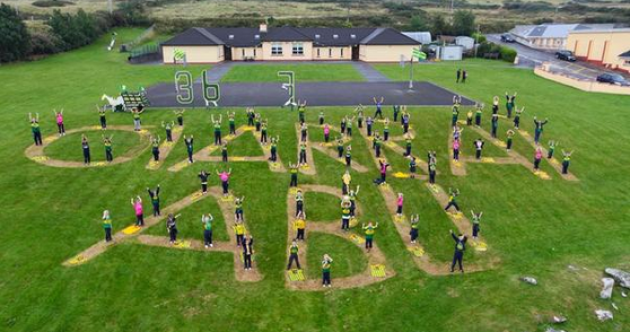 Snapshot – Brilliant pic from West Kerry school supporting the Kingdom's All-Ireland bid