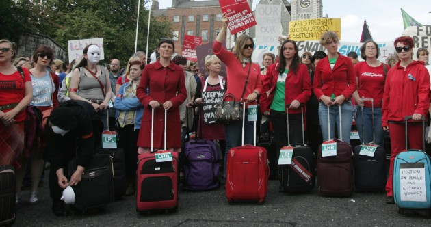 "Thousands march for ""realistic abortion access in Ireland"""