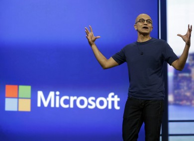Microsoft CEO Satya Nadella earlier this year.