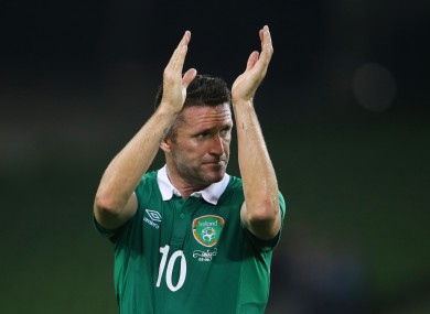 Robbie Keane looks set to start against Georgia on Sunday.