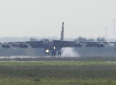 US B-52 bomber aircraft.