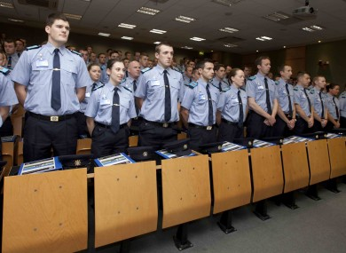The 100 new garda recruits at Templemore earlier this month.
