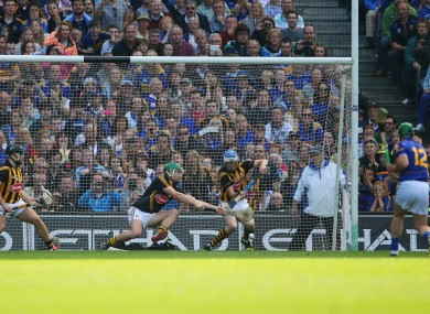 John O'Dwyer sees his second-half penalty for Tipperary saved.
