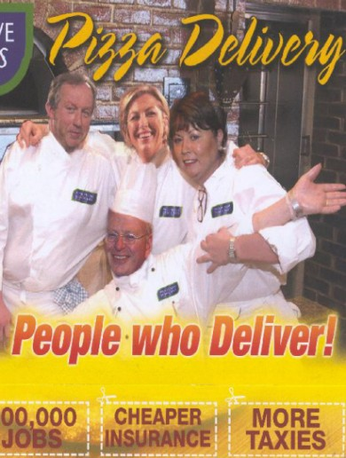 Back in time:  This 'Pizza Delivery' leaflet from the PDs is truly bizarre…