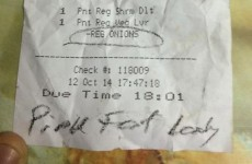 Pizza Hut apologises for calling customer 'Pink Fat Lady' on receipt