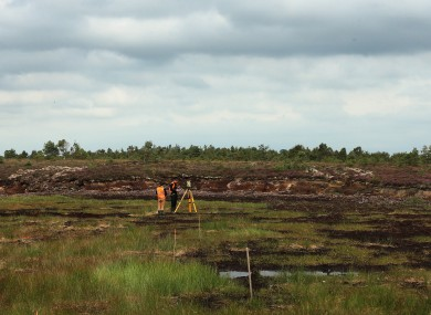 Forensic archaeologists examine the Oristown bog.