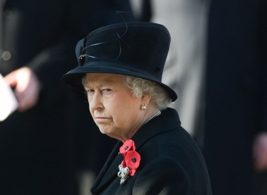 Queen Elizabeth ll attends the Remembrance Day Ceremony at the Cenotaph in London on November 13, 2011.