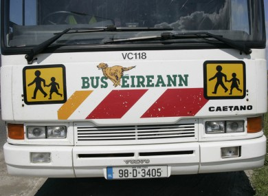 Rural school bus in Co Mayo. (File)
