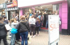 This was the line to get into a Dublin costume shop earlier today