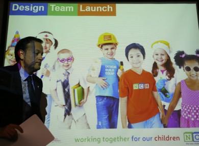 Health minister Leo Varadkar launching the design team for the new Children's Hospital last month.