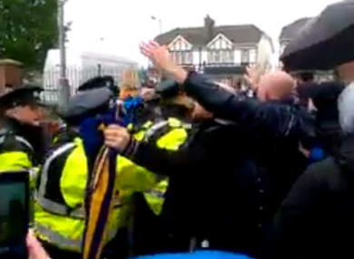 Footage of the Clare Hall protest was published online by the Dublin Says No group.