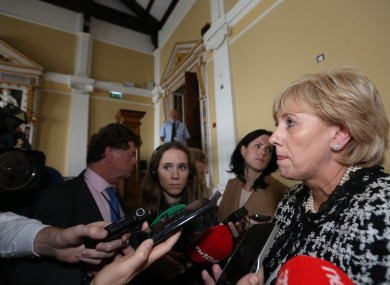 Heather Humphreys speaking to reporters in Dublin last week
