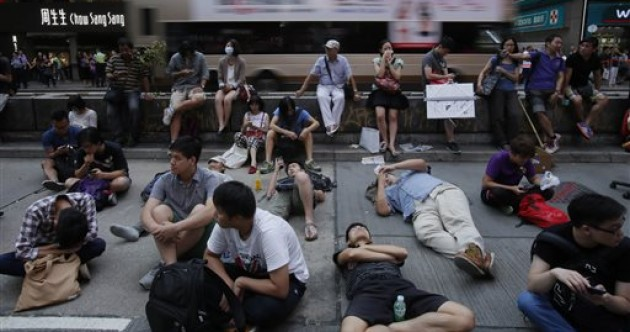 Protesters in Hong Kong have retaken their protest camp