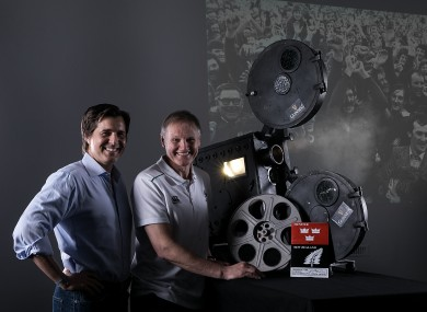 Joe Schmidt and Dr. Mike Gervais launching the new Guinness ad campaign 'Munster: Self Belief'.