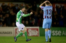 Cork hold off late Drogheda rally to move level with Dundalk at top