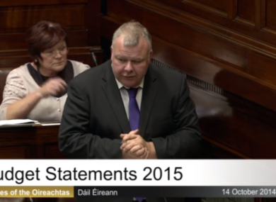 Michael Fitzmaurice delivering his maiden speech in the Dáil on Tuesday evening