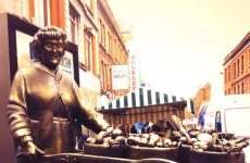 A statue of Mrs. Brown was unveiled in Dublin this morning