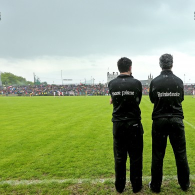 Gallagher on the line with Jim McGuinness.