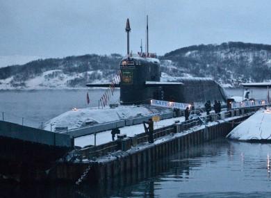 File photo of a Russian sub