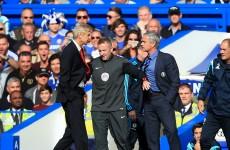 Arsene Wenger says sorry for Jose Mourinho push
