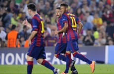 Suarez assists Neymar five minutes into his first Clasico