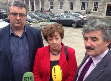 Thomas Pringle, Catherine Murphy and John Halligan were all suspended from the Dáil on Wednesday.