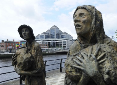 The famine memorial in Dublin