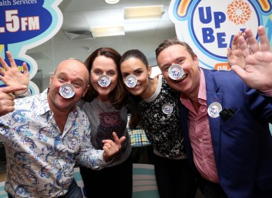 Alan Shortt, Alison Canavan, Ruth Scott and Shay Byrne at the launch of Upbeat On Air.
