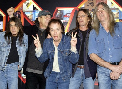 Phil Rudd (second from right) with his AC/DC bandmates.