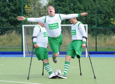 The players get stuck in with sponsor Paddy Power