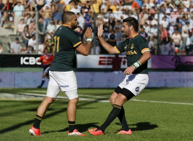 Bryan Habana and Willie le Roux offer major attacking threats.