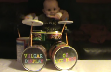 This baby's drum solo is the most metal thing ever