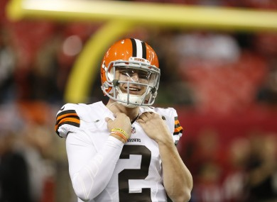Johnny Football has been involved in very little on the field this evening.