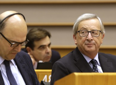 European Commission president Jean-Claude Juncker (right)