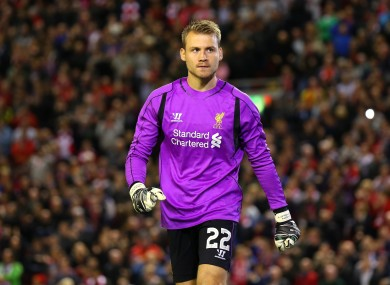 Liverpool goalkeeper Simon Mignolet.