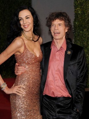 L'Wren Scott and Mick Jagger in 2011 at the Vanity Fair Oscar Party.