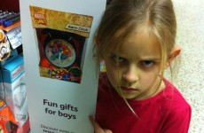 This little girl's angry face made Tesco take down 'boys' toys' signs in stores