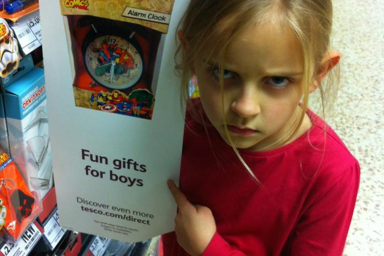 This little girl\'s angry face made Tesco take down \'boys\' toys ...