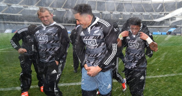 The All Blacks prepared for their game in Chicago with some American foo