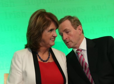 Joan Burton and Enda Kenny will be hoping everything calms down now