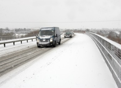 The M7 Motorway outside Naas, County Kildare following a snow storm.