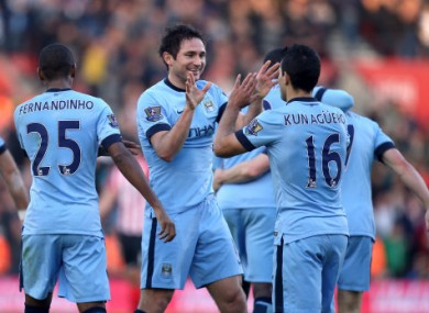 Frank Lampard doubled Man City's lead late on.
