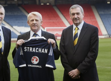 Campbell Ogilvie (right) with Scottish manager Gordon Strachan.