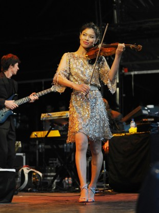 Vanessa-Mae during the day job.