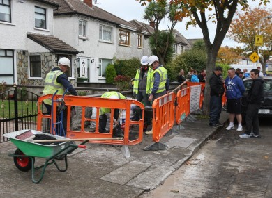 A file photo of water meter installation works.