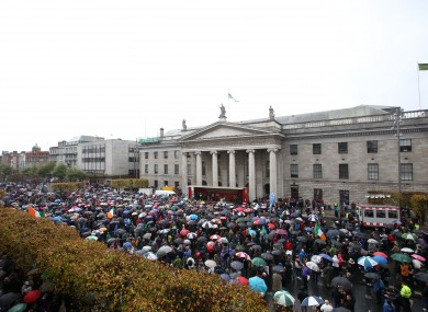 Water charge protest in Dublin.