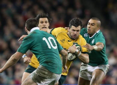 Ashley-Cooper is tackled by Simon Zebo in Dublin last month.